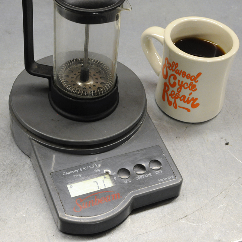 French Press weight
