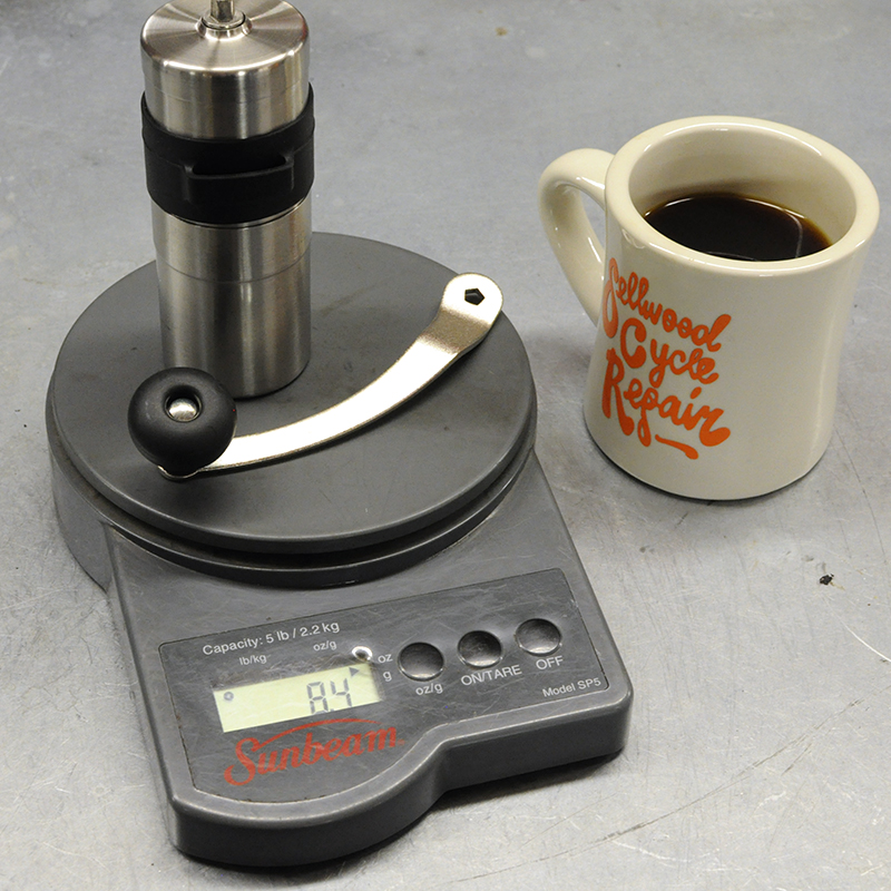 Porlex mini mill manual grinder weight