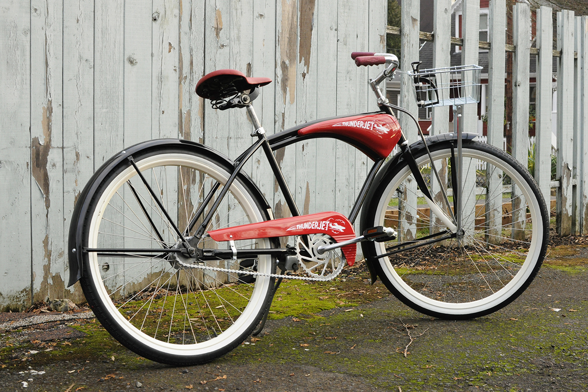 Thunderjet bicycle vintage cruiser restoration
