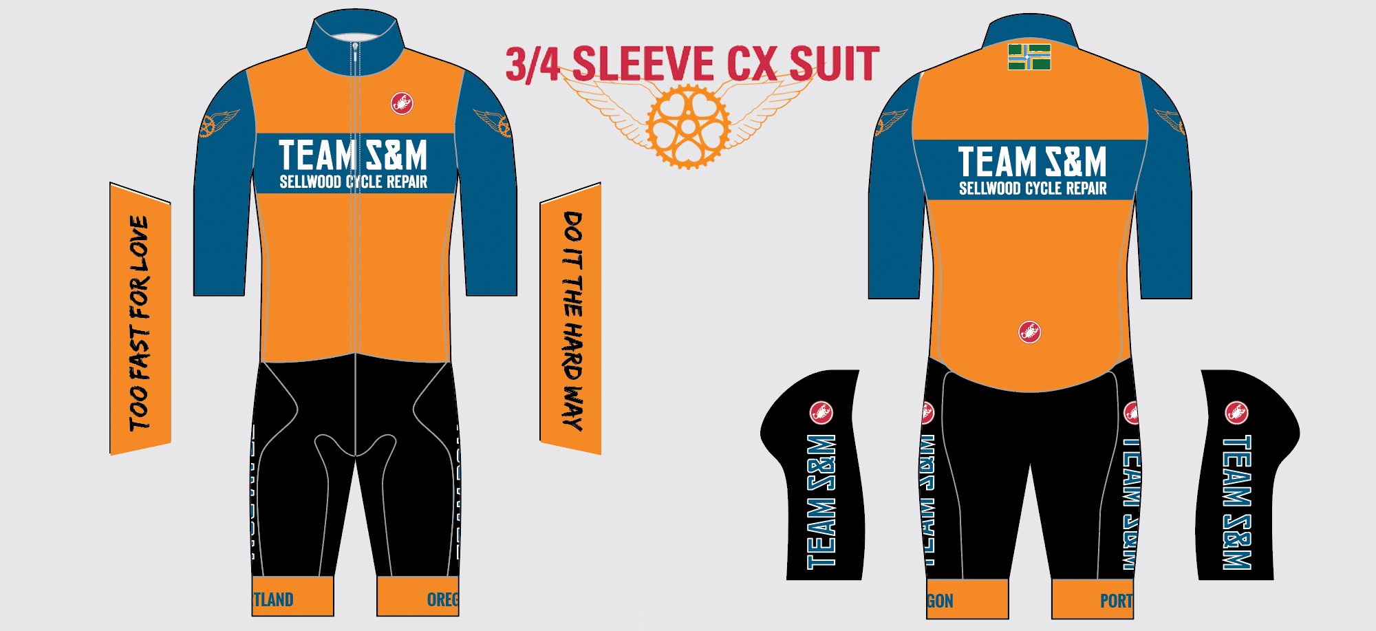 Team S and M CX speedsuits